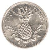 монетка цента 5 багамцов Стоковое Фото