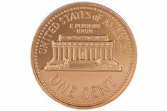 монетка цента изолировала одно мы Стоковое Фото
