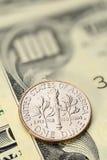 Монетка цента США монета в 10 центов Стоковое Изображение RF