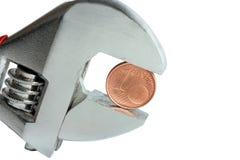 Монетка цента Стоковое Изображение