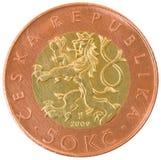 Монетка 50 чехословакских крон. Стоковое Изображение