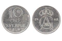 монетка Швеции Стоковое Изображение