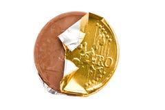 монетка шоколада стоковое изображение rf