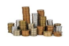 Монетка Японии и деньги золота на столе Стоковые Изображения RF