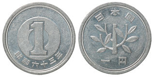 Монетка японских иен Стоковая Фотография