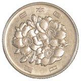 монетка 100 японских иен Стоковое Изображение