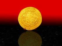 монетка 1617 золотистая Стоковая Фотография