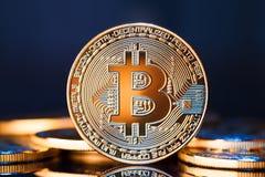 Монетка bitcoin золота Стоковые Изображения RF