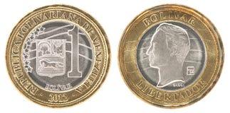 Монетка bolivar Венесуэлы стоковые изображения