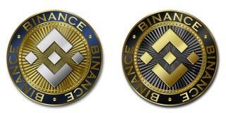 Монетка cryptocurrency BINANCE Стоковая Фотография