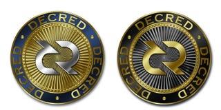 Монетка Cryptocurrency DECRED Стоковое Фото