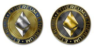 Монетка cryptocurrency ETHEREUM Стоковая Фотография RF