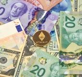 Монетка cryptocurrency ETHEREUM стоковое изображение rf