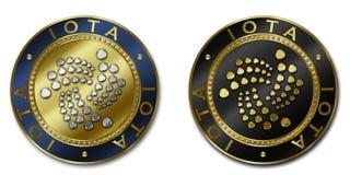 Монетка cryptocurrency IOTA Стоковое Изображение