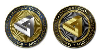 Монетка Cryptocurrency MAIDSAFECOIN Стоковое Фото