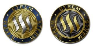 Монетка cryptocurrency STEEM Стоковое Изображение