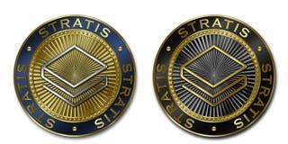 Монетка Cryptocurrency STRATIS Стоковое Фото