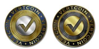 Монетка Cryptocurrency VERTCOIN Стоковое Изображение RF