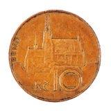 Монетка Czecz стоковое изображение