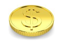 Монетка 3d золотого доллара бесплатная иллюстрация