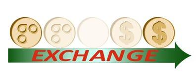 Монетка omisego обменом к доллару, идее проекта бесплатная иллюстрация
