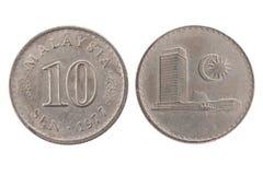 1977 монетка 10 sen Малайзии Стоковые Фото