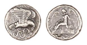 Монетка Stater Олимпии Стоковая Фотография