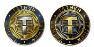 Монетка TETHER Cryptocurrency Стоковая Фотография RF