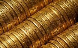 Монетки английского фунта Стоковые Фотографии RF