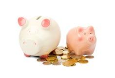 монетки банков piggy Стоковые Фотографии RF