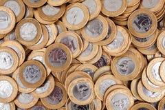 Монетки бразильянина 1 реальные Стоковые Изображения