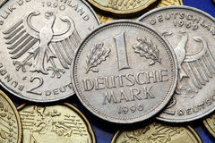 Монетки Германии Стоковое Фото