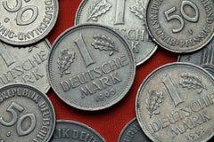 Монетки Германии Стоковое фото RF