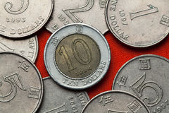 Монетки Гонконга Стоковые Изображения