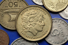 Монетки Греции Стоковое фото RF