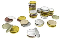 Монетки дешево иллюстрация штока
