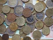 Монетки евро выпущенные Литвой Стоковая Фотография