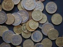 Монетки евро выпущенные Литвой Стоковое Фото