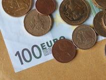 Монетки евро, Европейский союз Стоковое Фото