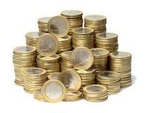 Монетки евро Стоковое Изображение