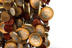 Монетки евро иллюстрация вектора