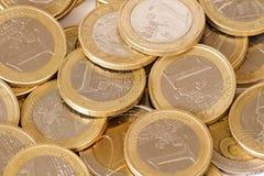 Монетки евро Стоковая Фотография RF