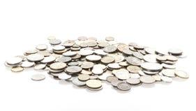 монетки изолировали Стоковые Фото