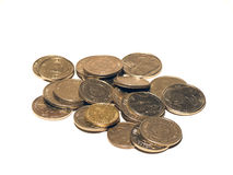 монетки изолировали Стоковое Изображение