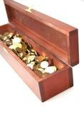 монетки комода Стоковая Фотография