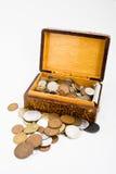 монетки коробки Стоковое фото RF