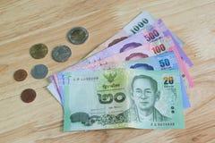 монетки кредиток тайские Стоковые Изображения