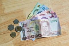 монетки кредиток тайские Стоковая Фотография RF