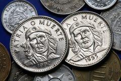 Монетки Кубы tres republica песо guevara Кубы de ernesto che Стоковое фото RF
