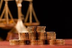 Деньги и правосудие Стоковая Фотография RF